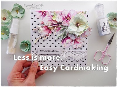 Less is more, simple Cardmaking Tutorial ♡ Maremi's Small Art ♡