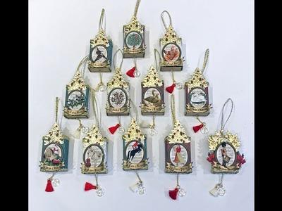 Matchbox Ornaments - 12 Days of Christmas & Advent Calendar