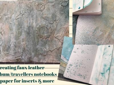 Mini Album.Travelers Notebook - Creating Faux Leather