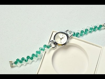 PandaHall Video Tutorial on How to Make Crystal Watch with Glass Beads