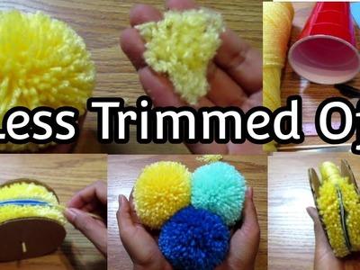 Pompom Making - Less Trimmed Off