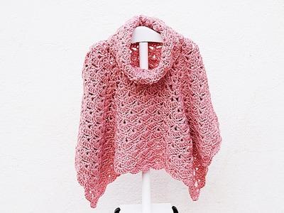 Poncho or coat of girl to crochet MAJOVEL very easy and fast #crochet #ganchillo # easy
