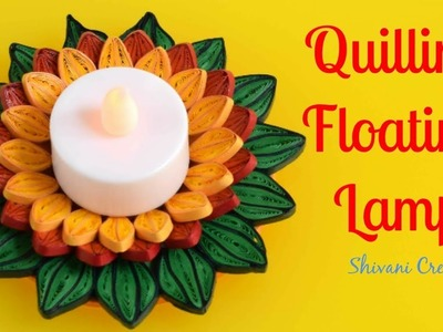 Quilling Floating Lamp Stand. How to make Floating Tealight Holder. Quilled Tealight Holder