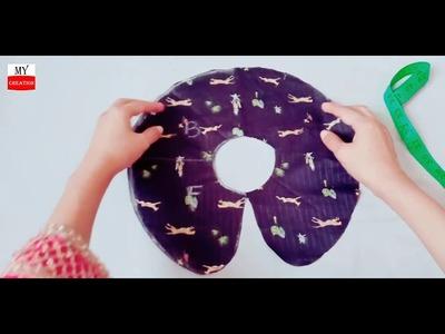 Rounded. circular petter pan collar cutting and stitching tutorial | peter pan collar neck