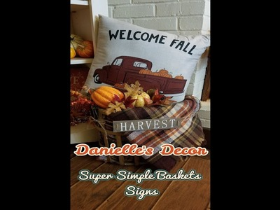 Signs for my Baskets?!? YES PLEASE! A super easy way to bump up your basket decor.