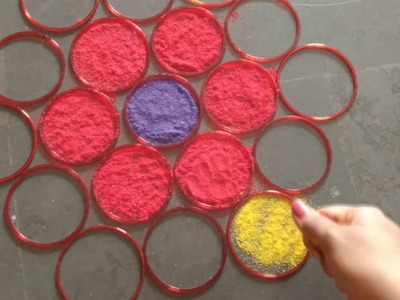 Simple and Easy Diwali Rangoli design for beginners | Beautiful Rangoli for Diwali