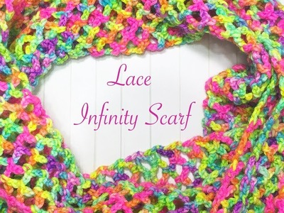 Simple Lace Infinity Scarf - Part 2 (finishing)