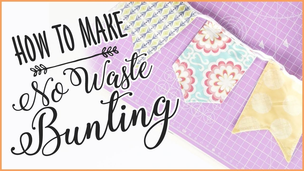 Simple No Waste Bunting: How To Make Bunting From Scrap Fabric