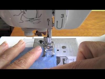 Simply Sew ~ How to Sew a Straight Stitch Seam