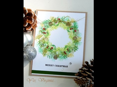 Stamp a Wreath with Small Stamps