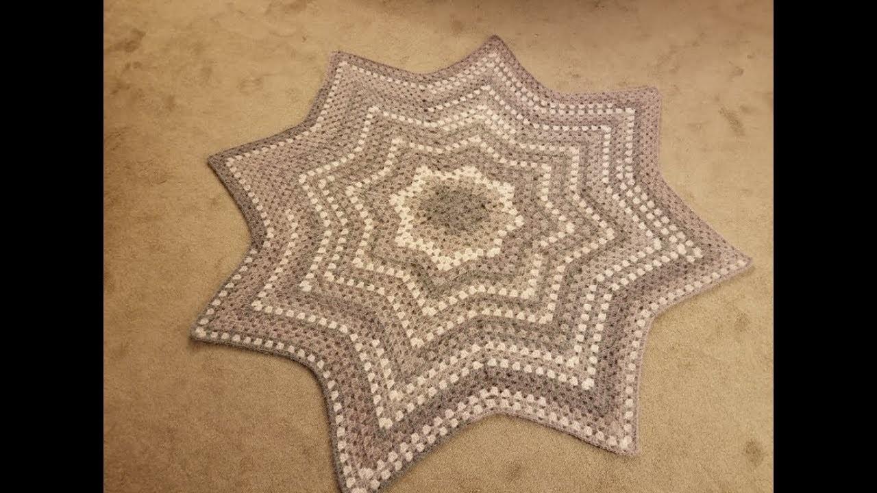 The Granny Star Blanket Crochet Tutorial!