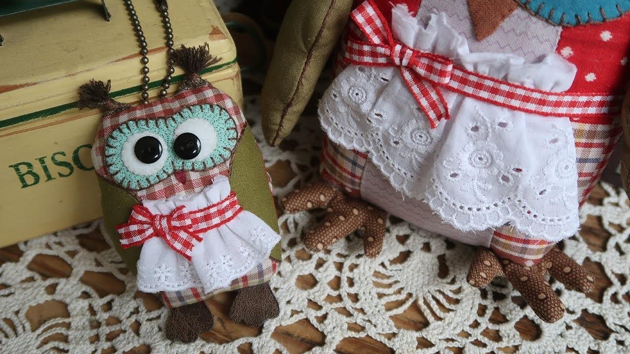 퀼트 부엉이인형 만들기 #2.2 │Owl Plush Toy Part.2 │ Hand Quilt │ How To DIY Craft Tutorial