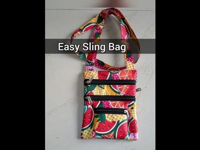 Tutorial for making easy sling bag