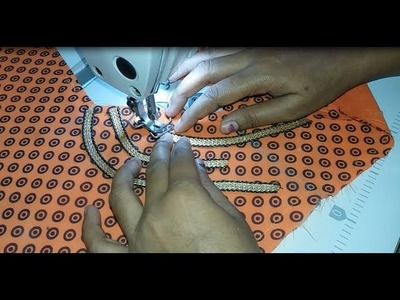 Very Beautiful Design Stitching With lace   Easy Method  2018