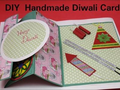 Very Easy Diwali card making Ideas 2018 |Diwali greeting card making for kids |Handmade Diwali Card