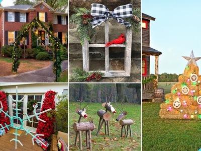 100 Cheap & Easy DIY Outdoor Christmas Decorations Ideas