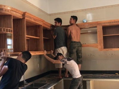 #Amazing Techniques Carpenters Woodworking Skills Drunk  - Building And Install A Kitchen Cabinet