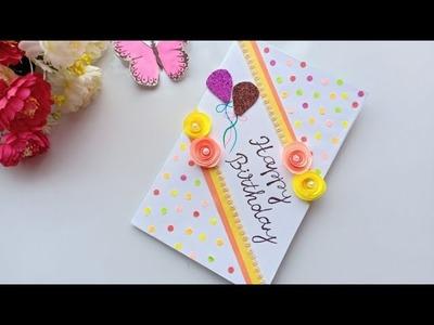 Beautiful Handmade Birthday card idea. DIY Greeting Pop up Cards for Birthday.