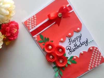 Beautiful Handmade Birthday card idea. DIY Greeting Pop up Cards for Birthday.