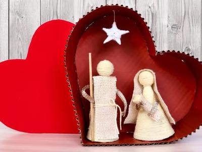 Beautiful Heart Showpiece Making at Home    DIY Innovative Showpiece    Handmade Craft