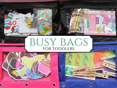 Busy Bags | For Toddlers