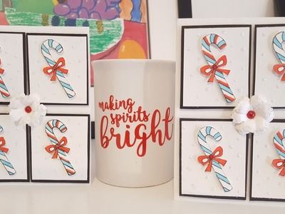 Candy Cane Card | Season's Greetings Stamp Set | #MindlessCrafting