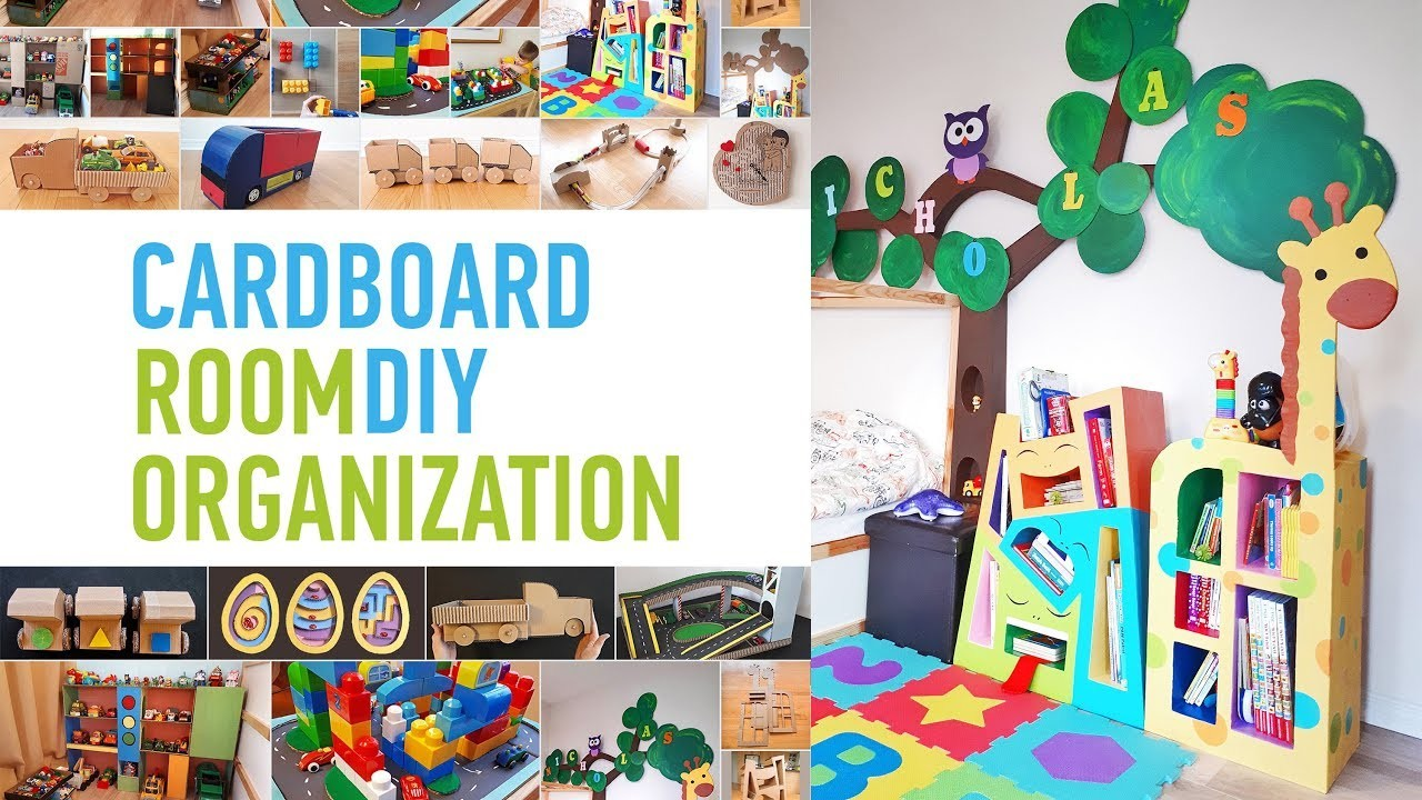 Cardboard Furniture and Toys for Kids Room
