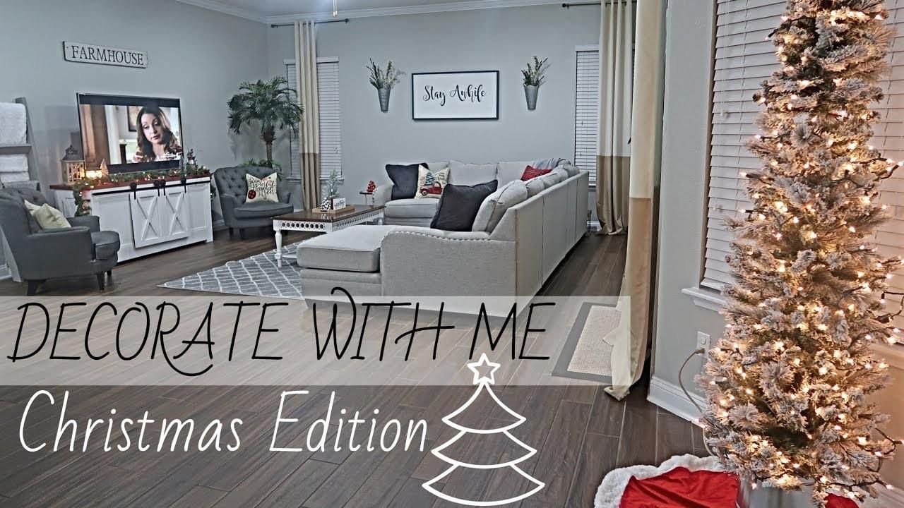CHRISTMAS DECORATE WITH ME 2018 | CHRISTMAS EDITION | HOME SWEEP HOME