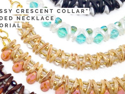 Classy Crescent Collar Beaded Necklace Tutorial | Beads and Jewelry Making | Beadweaving