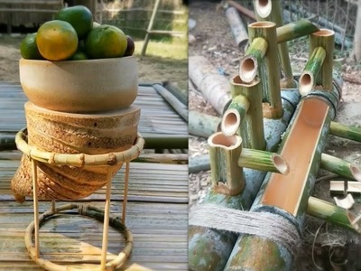 Creative DIY Make furniture from Bamboo And Cooking like Primitive