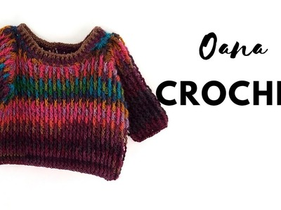 Crochet Pull for kids 5-7.8-10 years by Oana
