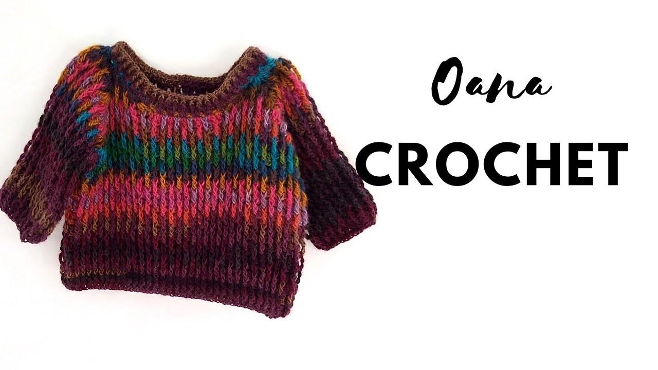 Crochet Pull for kids 5-7.8-10 years by Oana