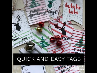 Day 3:  Several Quick and Easy Gift Tags in under 15 minutes. 25 days of Christmas video series