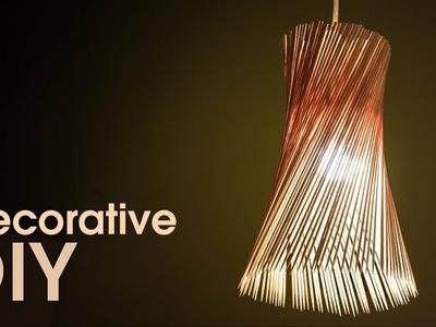 Decorative Light Shade: DIY Ideas with Barbecue Sticks by iDIYa