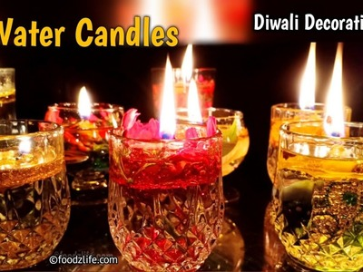 Diwali Decoration Ideas | Water Candles | DIY | Diwali decoration at home