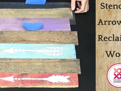 DIY a Arrow Stencil on Reclaimed Wood For The Perfect Wall Art!