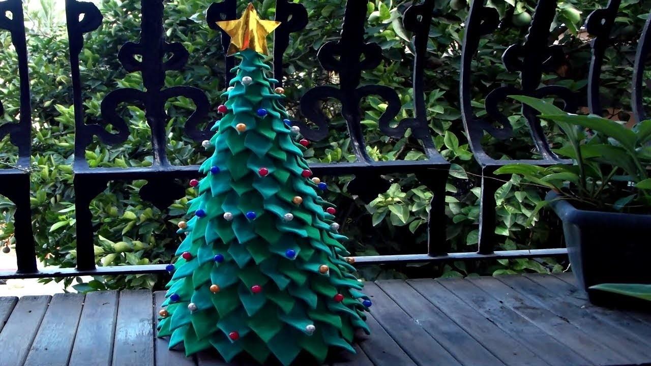 DIY - Árvore com folhas de eva | Especial Natal