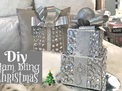 DIY BLING SPARKLY GLAM CHRISTMAS DECOR