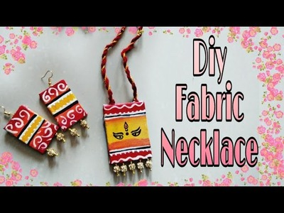 Diy boho necklace. How to make fabric necklace. Jewellery for western outfit