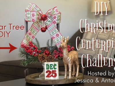DIY Christmas Centerpiece Challenge | Dollar Tree Christmas DIY