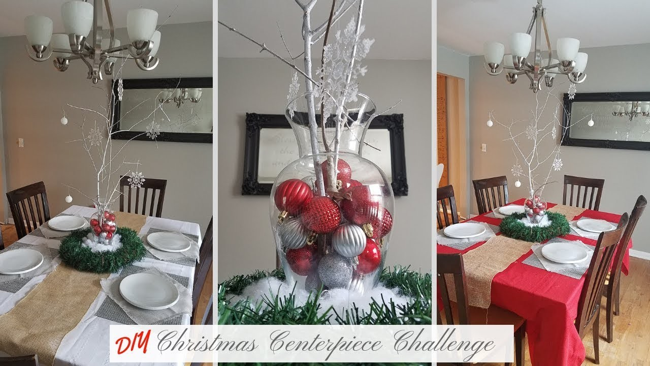 DIY CHRISTMAS CENTERPIECE CHALLENGE | Dollar Tree Christmas Decor | Rustic Glam