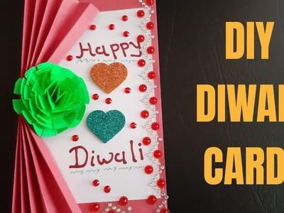 Diy diwali card making || how to make diwali card || dipavali special craft
