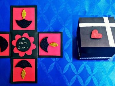 DIY Diwali cards | Diwali Explosion Box | Diwali Pop Up Card | Easy Beautiful Diwali Greeting Card