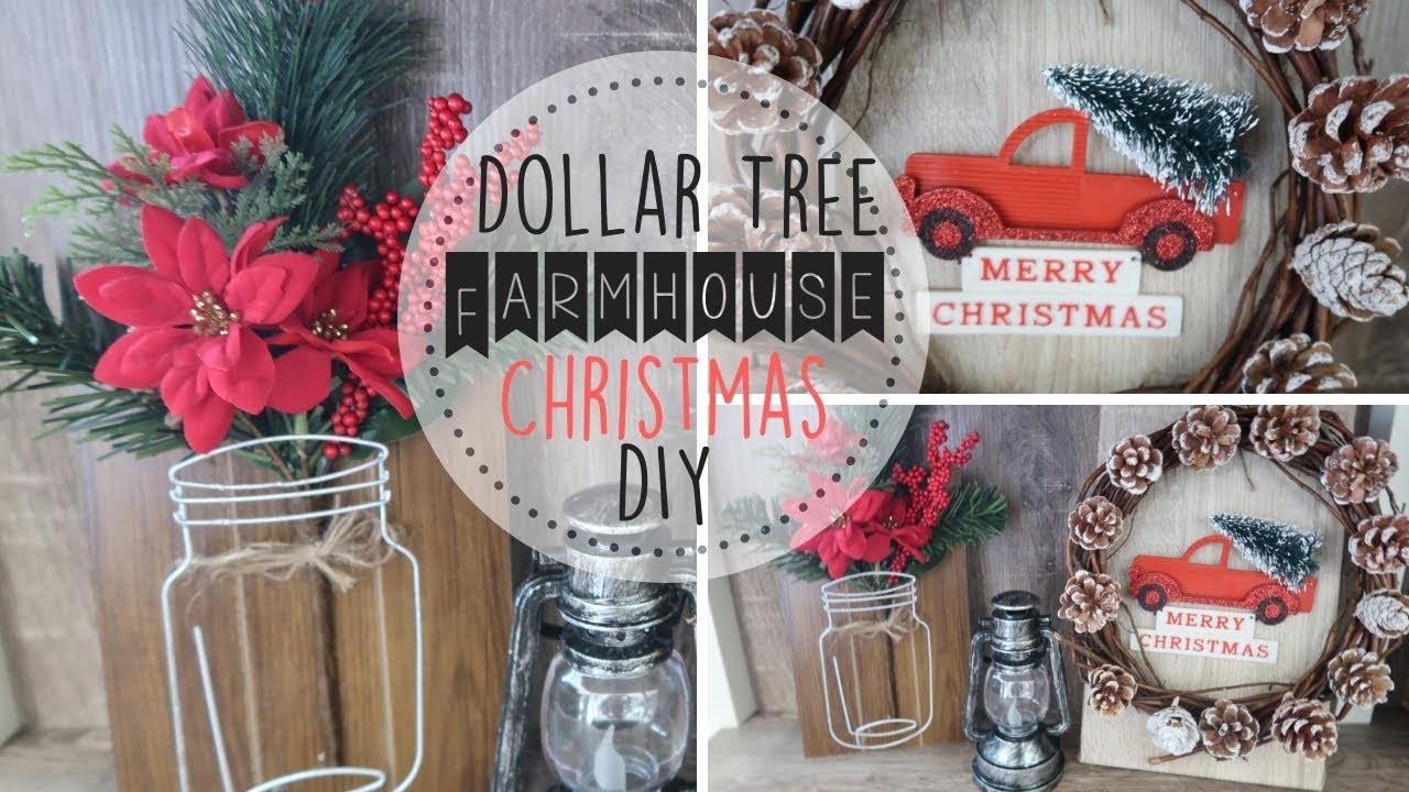 DIY Dollar Tree Christmas Farmhouse Decor, Dollar Store ...