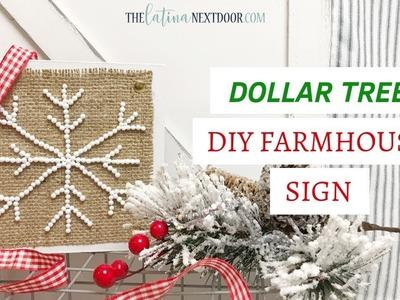 DIY Dollar Tree Farmhouse Christmas Decor   Farmhouse Christmas Sign 2018