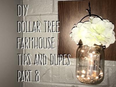 DIY Dollar Tree Farmhouse Tips and Dupes Part 8