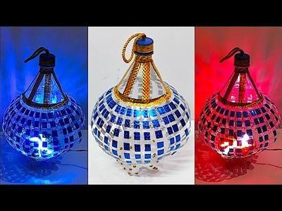 DIY - Lantern.Tealight Holder from plastic bottle - Part 1 | DIY Christmas Decorations Idea