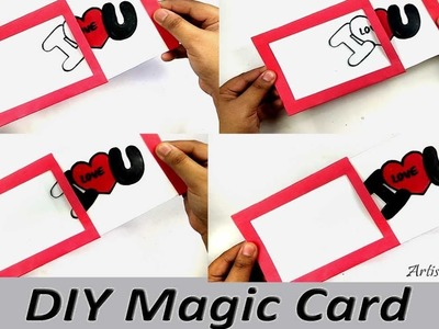DIY Magic Greeting Card Tutorial|How to Make a Handmade Magic Card|Magic Slider Card
