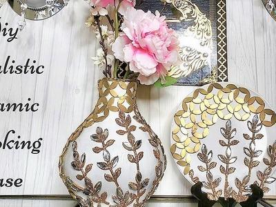 Diy Realistic Ceramic Vase Using Cardboard! Paper Craft Home Decor!