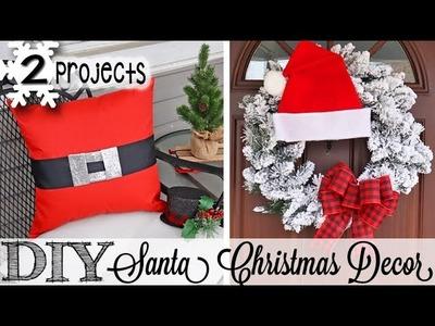 DIY Santa Wreath & Pillows! Walmart Supplies!